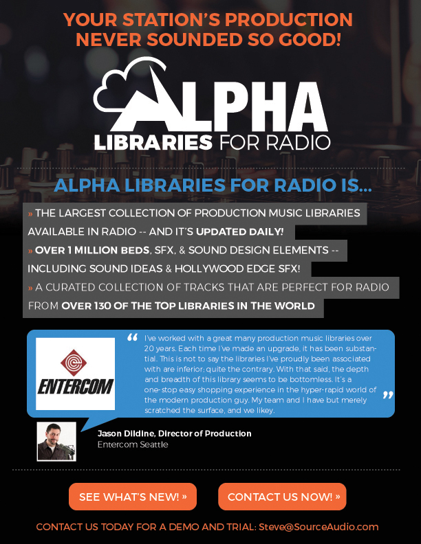 Alpha Libraries for Radio – ThatGuySteve Wall's Talent Farm